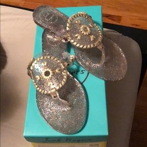 Jack Rogers glitter jelly sandals